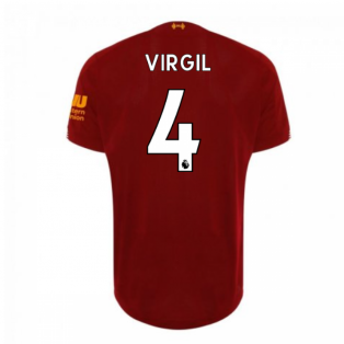2019-2020 Liverpool Home Football Shirt (Virgil 4) - Kids