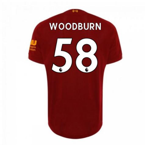 2019-2020 Liverpool Home Football Shirt (Woodburn 58) - Kids