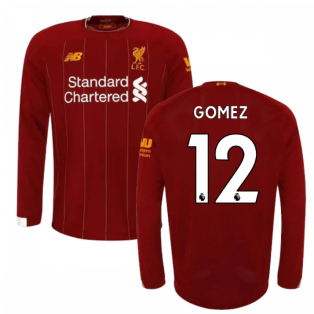 2019-2020 Liverpool Home Long Sleeve Shirt (Kids) (Gomez 12)