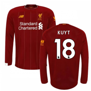 2019-2020 Liverpool Home Long Sleeve Shirt (Kids) (KUYT 18)