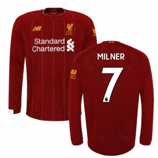 2019-2020 Liverpool Home Long Sleeve Shirt (Kids) (Milner 7)