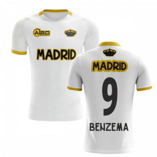 2019-2020 Madrid Concept Training Shirt (White) (BENZEMA 9)