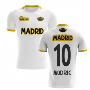 148260d26 2019-2020 Madrid Concept Training Shirt (White) (MODRIC 10)