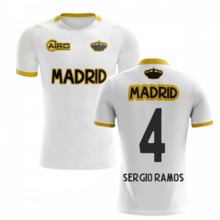 15af5abf4 2019-2020 Madrid Concept Training Shirt (White) (SERGIO RAMOS 4)