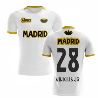 2020-2021 Madrid Concept Training Shirt (White) (VINICIUS JR 28) - Kids