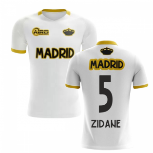 2020-2021 Madrid Concept Training Shirt (White) (ZIDANE 5) - Kids