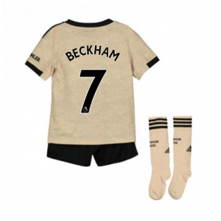 2019-2020 Man Utd Adidas Away Little Boys Mini Kit (BECKHAM 7)