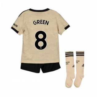 2019-2020 Man Utd Adidas Away Little Boys Mini Kit (Green 8)