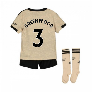 2019-2020 Man Utd Adidas Away Little Boys Mini Kit (Greenwood 3)