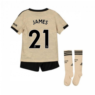 2019-2020 Man Utd Adidas Away Little Boys Mini Kit (James 21)