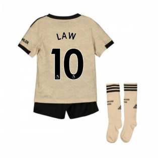 2019-2020 Man Utd Adidas Away Little Boys Mini Kit (LAW 10)