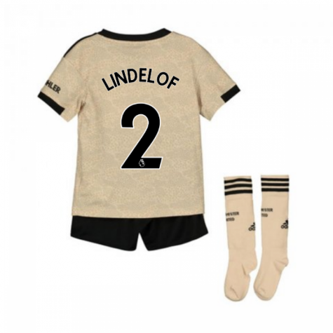 2019-2020 Man Utd Adidas Away Little Boys Mini Kit (LINDELOF 2)