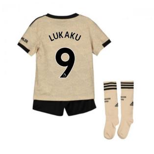 2019-2020 Man Utd Adidas Away Little Boys Mini Kit (LUKAKU 9)