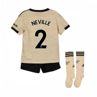 2019-2020 Man Utd Adidas Away Little Boys Mini Kit (NEVILLE 2)