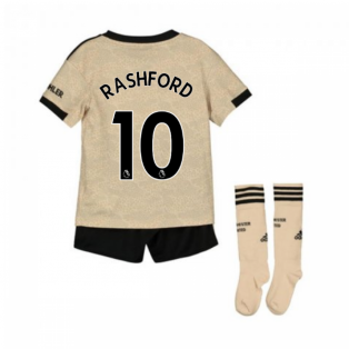 2019-2020 Man Utd Adidas Away Little Boys Mini Kit (RASHFORD 10)