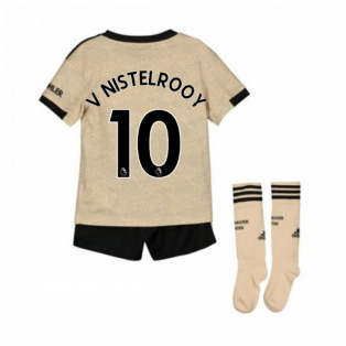 2019-2020 Man Utd Adidas Away Little Boys Mini Kit (V NISTELROOY 10)