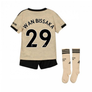 2019-2020 Man Utd Adidas Away Little Boys Mini Kit (Wan Bissaka 29)