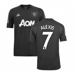 2019-2020 Man Utd Adidas EU Training Shirt (Carbon) (Alexis 7)