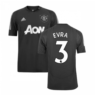 2019-2020 Man Utd Adidas EU Training Shirt (Carbon) (Evra 3)