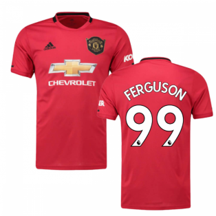 2019-2020 Man Utd Adidas Home Football Shirt (FERGUSON 99)