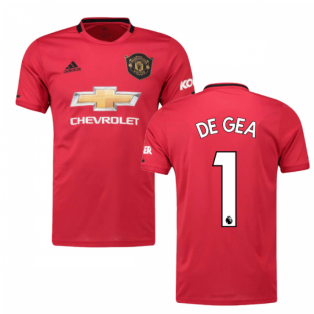 2019-2020 Man Utd Adidas Home Football Shirt (Kids) (DE GEA 1)