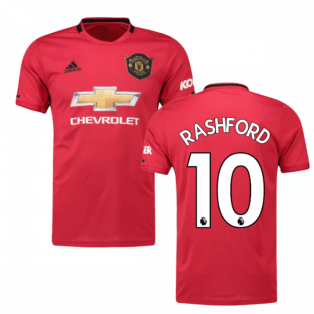 2019-2020 Man Utd Adidas Home Football Shirt (Kids) (RASHFORD 10)