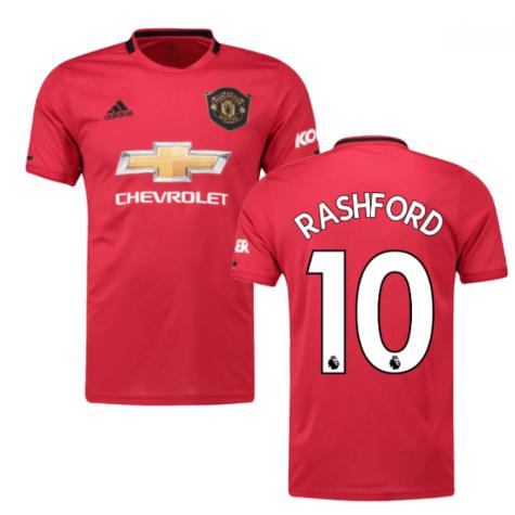2019-2020 Man Utd Adidas Home Football Shirt (Kids) (RASHFORD 10)