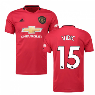 2019-2020 Man Utd Adidas Home Football Shirt (Kids) (VIDIC 15)