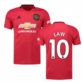 2019-2020 Man Utd Adidas Home Football Shirt (LAW 10)