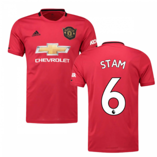 2019-2020 Man Utd Adidas Home Football Shirt (STAM 6)