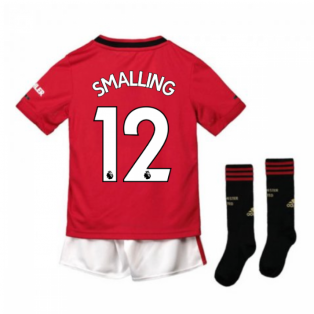 2019-2020 Man Utd Adidas Home Little Boys Mini Kit (SMALLING 12)
