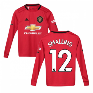 2019-2020 Man Utd Adidas Home Long Sleeve Shirt (Kids) (SMALLING 12)