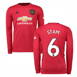 2019-2020 Man Utd Adidas Home Long Sleeve Shirt (STAM 6)