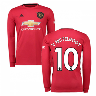 2019-2020 Man Utd Adidas Home Long Sleeve Shirt (V NISTELROOY 10)