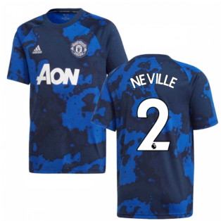 2019-2020 Man Utd Adidas Pre-Match Training Shirt (Mystery Ink) - Kids (NEVILLE 2)