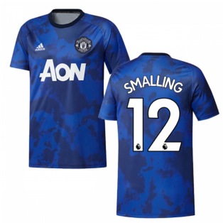 2019-2020 Man Utd Adidas Pre-Match Training Shirt (Mystery Ink) (SMALLING 12)