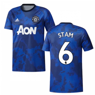 2019-2020 Man Utd Adidas Pre-Match Training Shirt (Mystery Ink) (STAM 6)