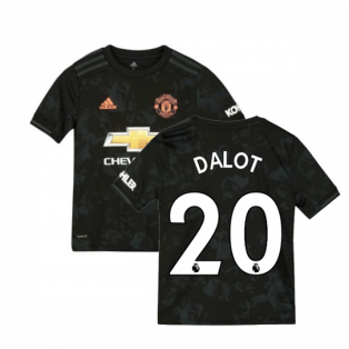 2019-2020 Man Utd Adidas Third Football Shirt (Kids) (DALOT 20)