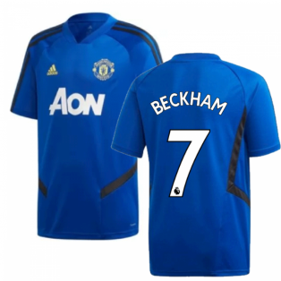 2019-2020 Man Utd Adidas Training Shirt (Blue) - Kids (Beckham 7)