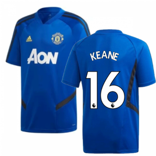 2019-2020 Man Utd Adidas Training Shirt (Blue) - Kids (Keane 16)