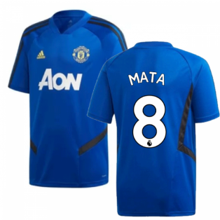 2019-2020 Man Utd Adidas Training Shirt (Blue) - Kids (Mata 8)