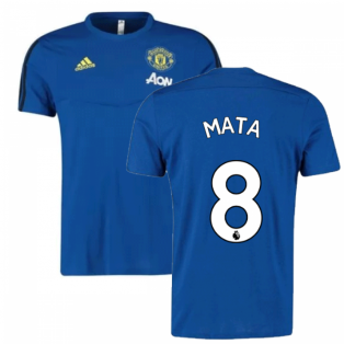 2019-2020 Man Utd Adidas Training Tee (Blue) (Mata 8)