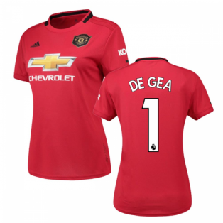 2019-2020 Man Utd Adidas Womens Home Shirt (DE GEA 1)