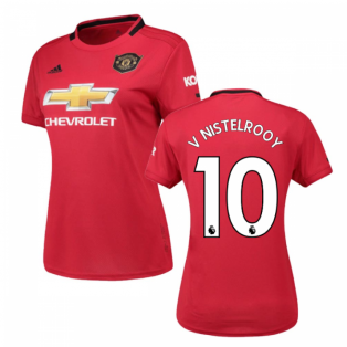 2019-2020 Man Utd Adidas Womens Home Shirt (V NISTELROOY 10)