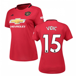 2019-2020 Man Utd Adidas Womens Home Shirt (VIDIC 15)