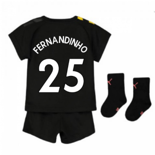 2019-2020 Manchester City Away Baby Kit (FERNANDINHO 25)