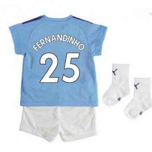 2019-2020 Manchester City Home Baby Kit (FERNANDINHO 25)