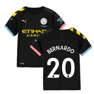 2019-2020 Manchester City Puma Away Football Shirt (Kids) (BERNARDO 20)