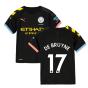 2019-2020 Manchester City Puma Away Football Shirt (Kids) (DE BRUYNE 17)