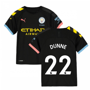 2019-2020 Manchester City Puma Away Football Shirt (Kids) (DUNNE 22)